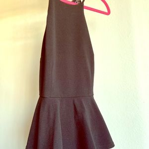 *Never Worn*  BLACK BEBE PEPLUM LITTLE BLACK DRESs